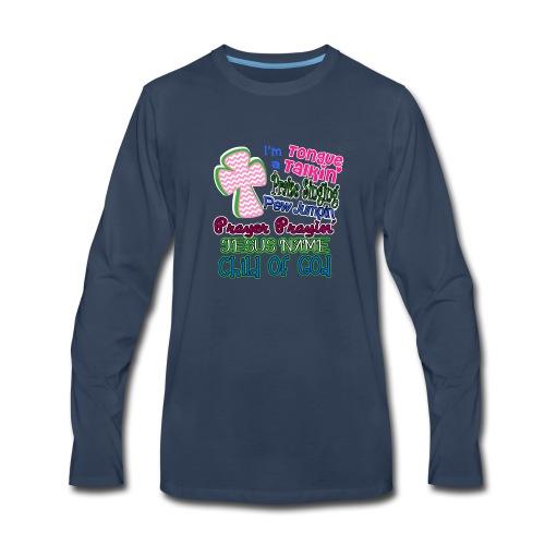 Jesus Name Southern Cross One God Pentesostal - Men's Premium Long Sleeve T-Shirt