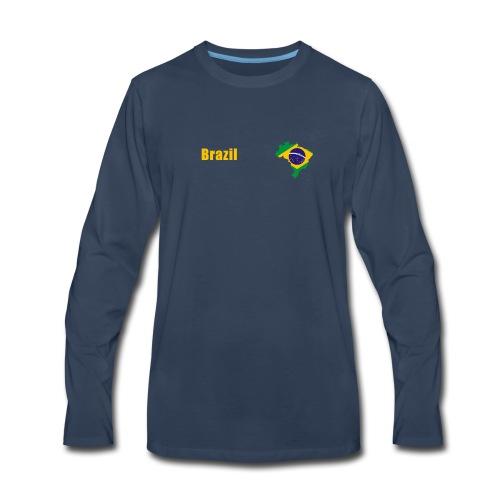 Brazil world cup T-Shirt - Men's Premium Long Sleeve T-Shirt
