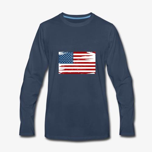 Bandera del Día de la Independencia de los Estados - Men's Premium Long Sleeve T-Shirt