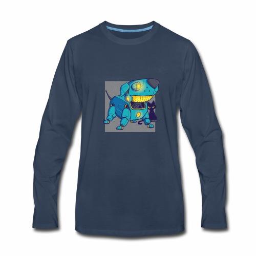 Dog robot tshirt - Men's Premium Long Sleeve T-Shirt