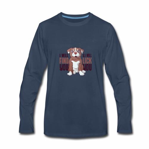 Pitbull puppy tshirt - Men's Premium Long Sleeve T-Shirt