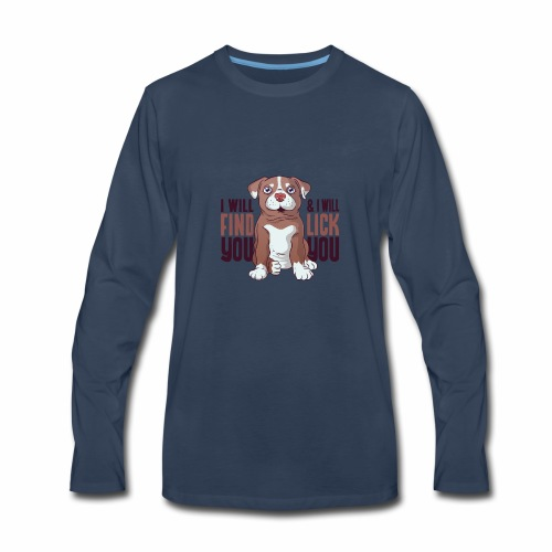 Pitbull puppy tshirt - Men's Premium Long Sleeve T-Shirt