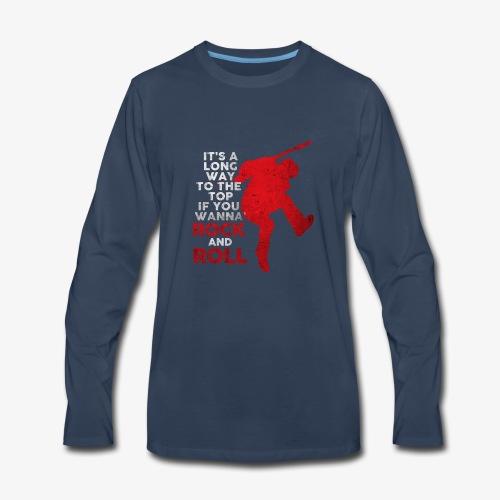rock and roll - Men's Premium Long Sleeve T-Shirt