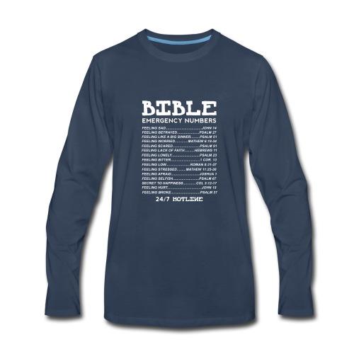 Bible Emergency Numbers - Men's Premium Long Sleeve T-Shirt
