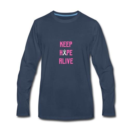 Keep Hope Alive Cancer Awareness T-Shirt - Men's Premium Long Sleeve T-Shirt