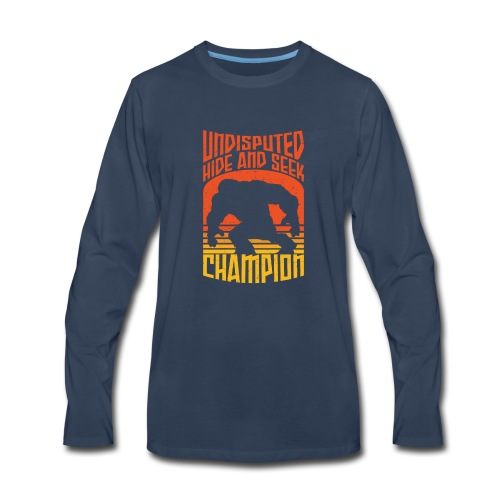 Bigfoot Funny Hide and Seek champion - Men's Premium Long Sleeve T-Shirt