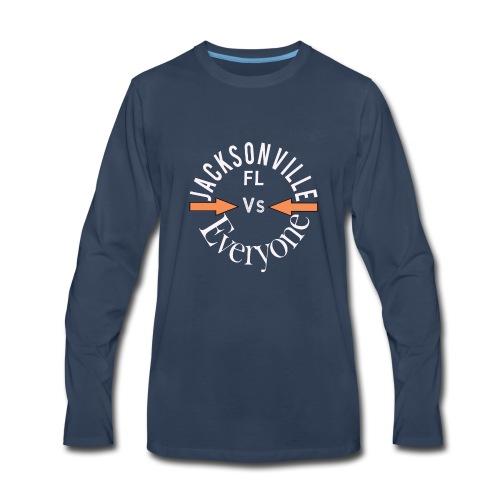 Cool Jacksonville v everyone design - Men's Premium Long Sleeve T-Shirt