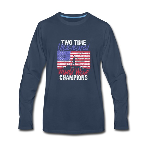 RETIRED ARMY: Undefeated War Champs - Men's Premium Long Sleeve T-Shirt
