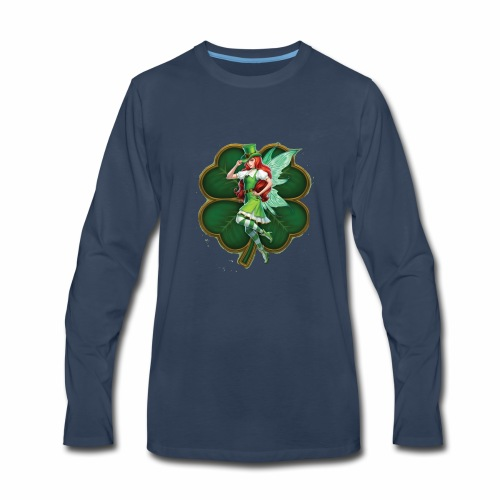 Irish Fairy Four Leaf Clover - Men's Premium Long Sleeve T-Shirt