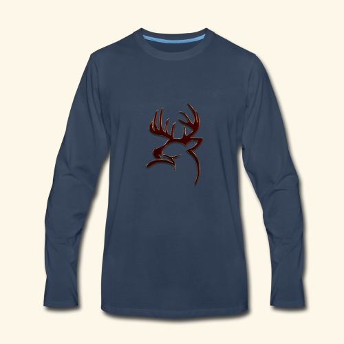 Buck Logo - Men's Premium Long Sleeve T-Shirt