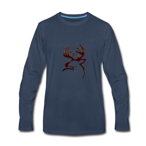 Buck Logo - Men's Premium Long Sleeve T-Shirt