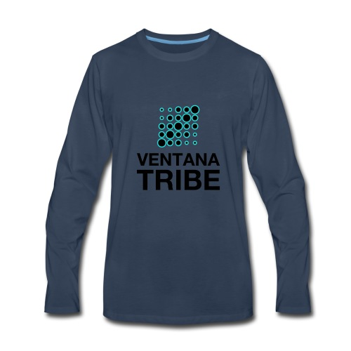 Ventana Tribe Black Logo - Men's Premium Long Sleeve T-Shirt