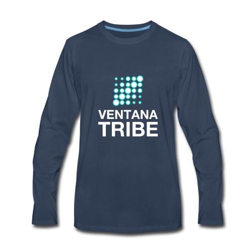 Ventana Tribe White Logo - Men's Premium Long Sleeve T-Shirt