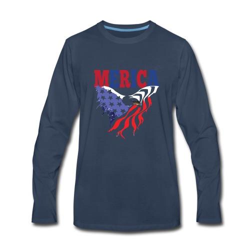 MERICA 4th of july t shirts old navy TSHIRT - Men's Premium Long Sleeve T-Shirt