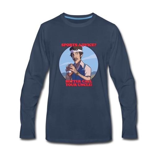 Uncle Odds Fantasy Football Player DFS - Men's Premium Long Sleeve T-Shirt