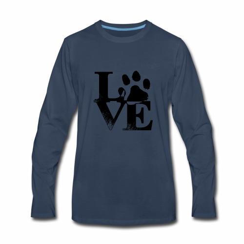 Luv Paw Print - Men's Premium Long Sleeve T-Shirt