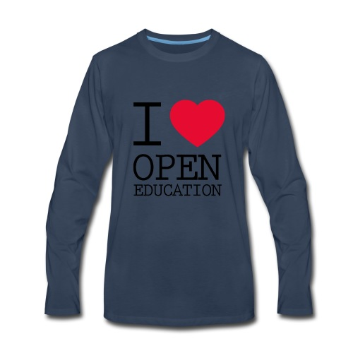 I Love Open Education - Men's Premium Long Sleeve T-Shirt