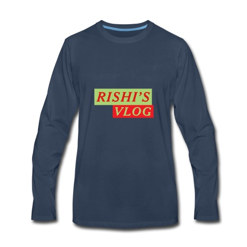 RISHI'S VLOG - Men's Premium Long Sleeve T-Shirt