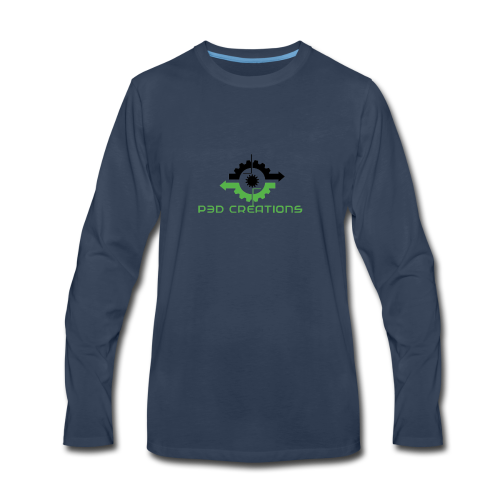 P3D Creations Logo - Men's Premium Long Sleeve T-Shirt