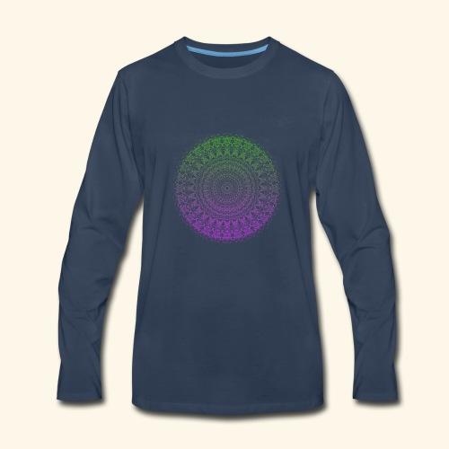 Green / Purple Mandala - Men's Premium Long Sleeve T-Shirt