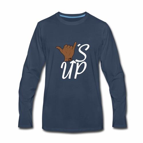 Wise Up T-Shirt - Men's Premium Long Sleeve T-Shirt
