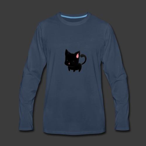 black cat hoodie - Men's Premium Long Sleeve T-Shirt