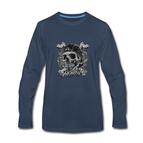 Smoke Skull - Men's Premium Long Sleeve T-Shirt