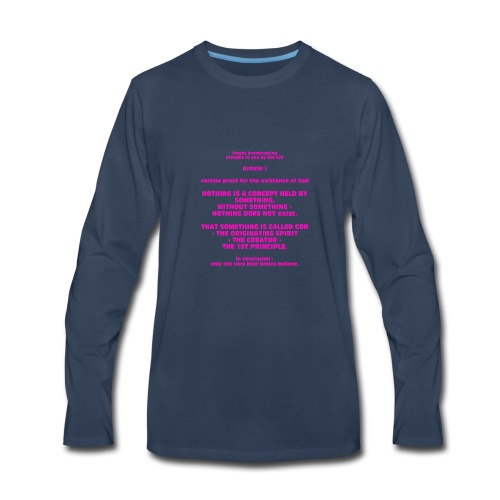 Proof for the Existence of God - Men's Premium Long Sleeve T-Shirt