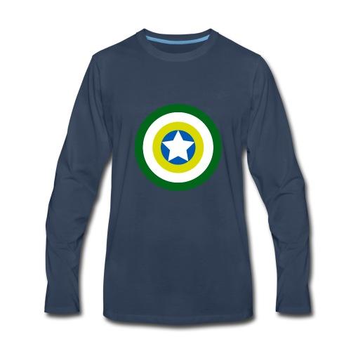 Capitão America Brasil - Men's Premium Long Sleeve T-Shirt