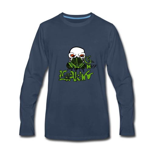 Leaking Gas Mask - Men's Premium Long Sleeve T-Shirt