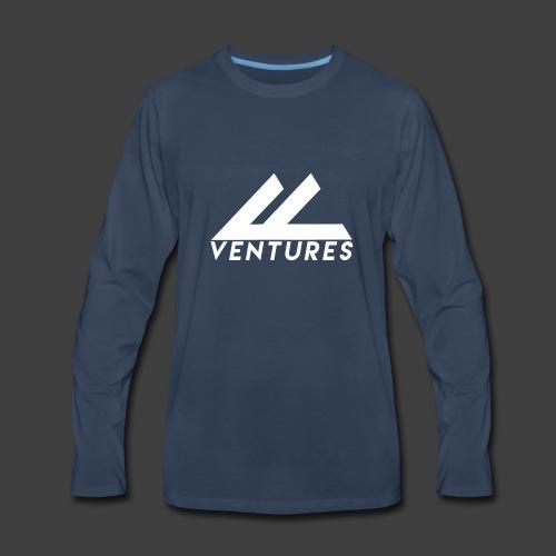 Vanity Ventures White Logo - Men's Premium Long Sleeve T-Shirt