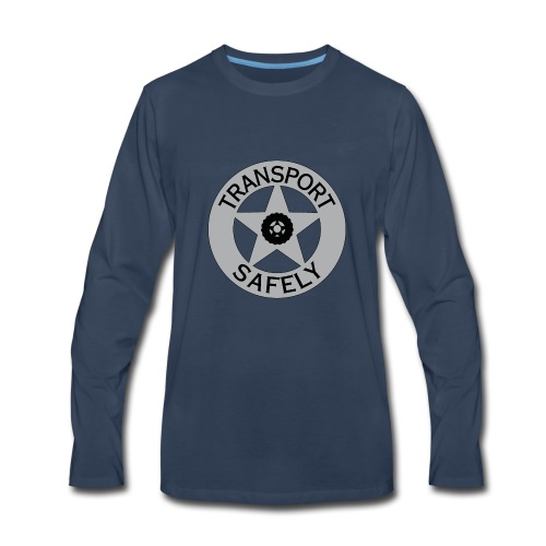 Transport Safely Logo - Men's Premium Long Sleeve T-Shirt