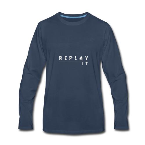 ReplayIt - Men's Premium Long Sleeve T-Shirt