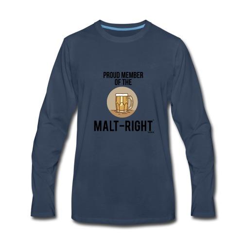 MALT-RIGHT BROWN BACKGROUND - Men's Premium Long Sleeve T-Shirt