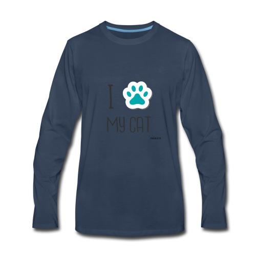 I love my cat - Men's Premium Long Sleeve T-Shirt