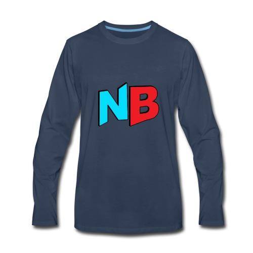 Nerdbooth.com Favicon Logo - Men's Premium Long Sleeve T-Shirt