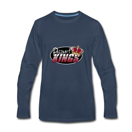 Passport Kings logo for dark shirts - Men's Premium Long Sleeve T-Shirt