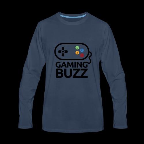 Gaming Buzz Logo - Black - Men's Premium Long Sleeve T-Shirt