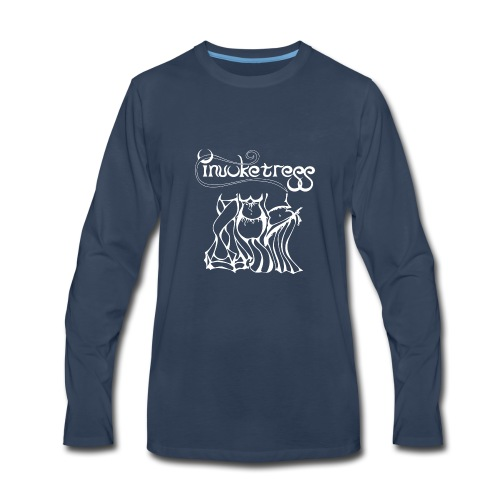 Invoketress Bellies Logo in White - Men's Premium Long Sleeve T-Shirt