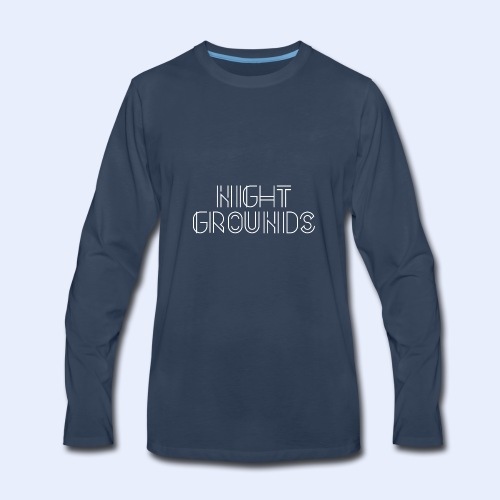 White NightGrounds Title - Men's Premium Long Sleeve T-Shirt