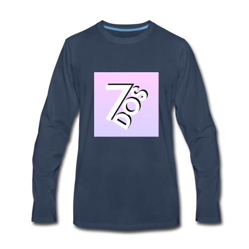 7DOS Logo - Men's Premium Long Sleeve T-Shirt