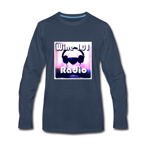 Wine 101 Radio Logo - Men's Premium Long Sleeve T-Shirt