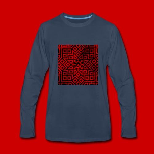 Detailed Chaos Communism Button - Men's Premium Long Sleeve T-Shirt