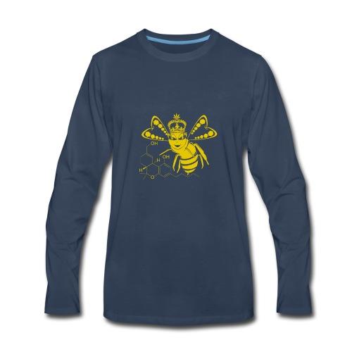 11HydroxyCompoud FemaleBee Shirt Gold Final 01 - Men's Premium Long Sleeve T-Shirt