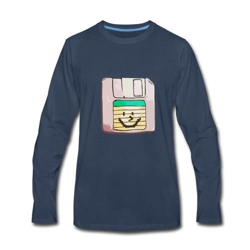 smiley floppy disk - Men's Premium Long Sleeve T-Shirt