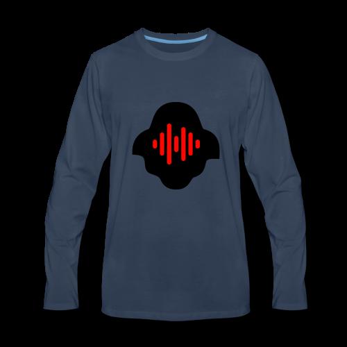 Black & Red - Men's Premium Long Sleeve T-Shirt