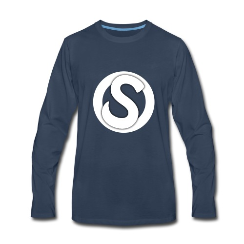 Scopez YouTube Logo - Men's Premium Long Sleeve T-Shirt
