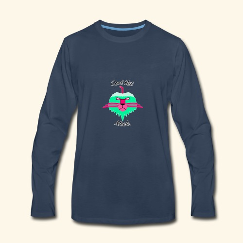 Cool Kat Mech. (Neon Glow) - Men's Premium Long Sleeve T-Shirt