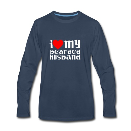 beard husband - Men's Premium Long Sleeve T-Shirt