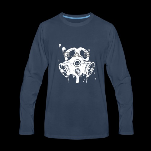 Big White Gas Mask 1 - Men's Premium Long Sleeve T-Shirt